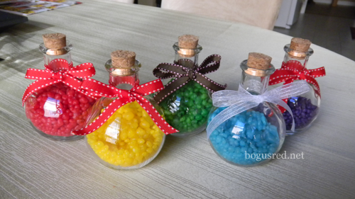 multicolored favors