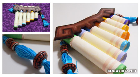 zelda wedding pan flute centerpiece
